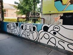 Street art nei pressi del Museumquartier
